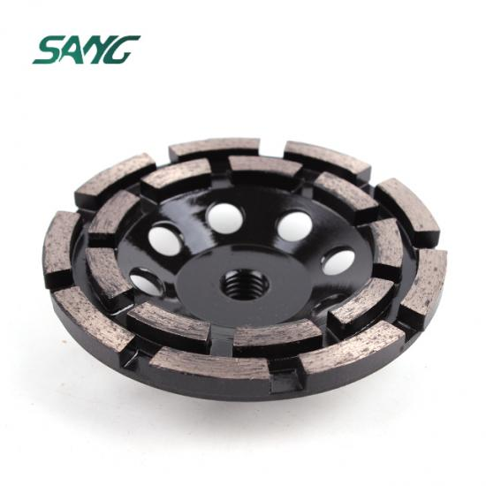 diamond cup wheel, double row disc, floor grinding tool, double row diamond cup whee